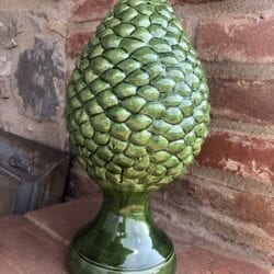 Deco a forma di pigna piccola in ceramica- verde