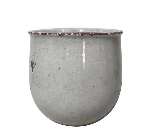 Vaso piccolo in ceramica craquele