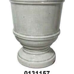 Vaso alzata in ceramica craquele