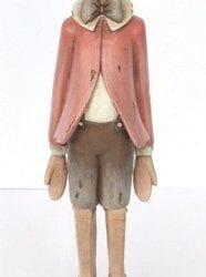 Pinocchio con giacca e cappellino Rosa