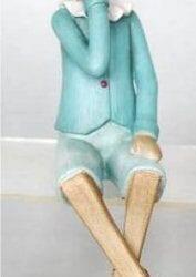 Pinocchio Turchese Seduto