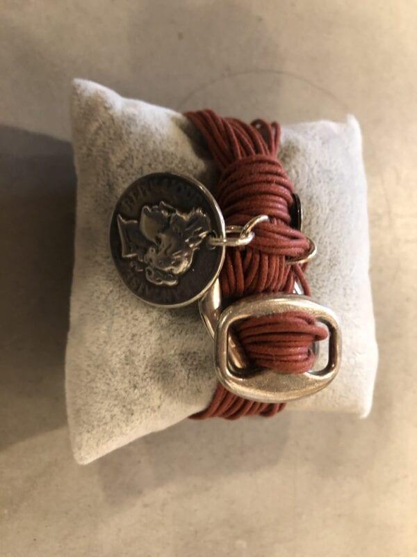 Braccialetto con medaglione – Color Ruggine