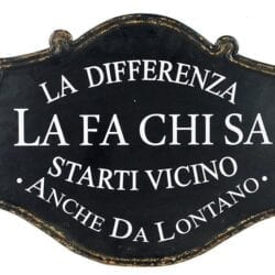 "Targa in metallo – ""La differenza la fa chi…."""