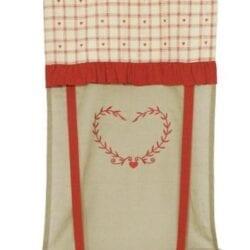 Tenda rossa con tessuto con cuore – Piccola