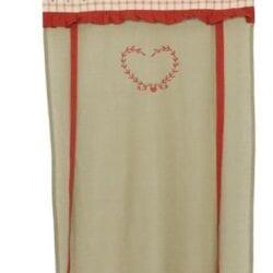 Tenda rossa con tessuto con cuore – Grande