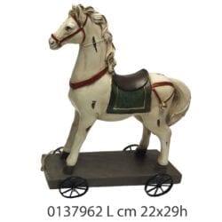 Cavallo con ruote in resina – Grande