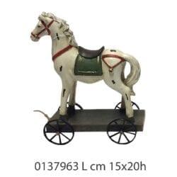 Cavallo con ruote in resina – Piccolo