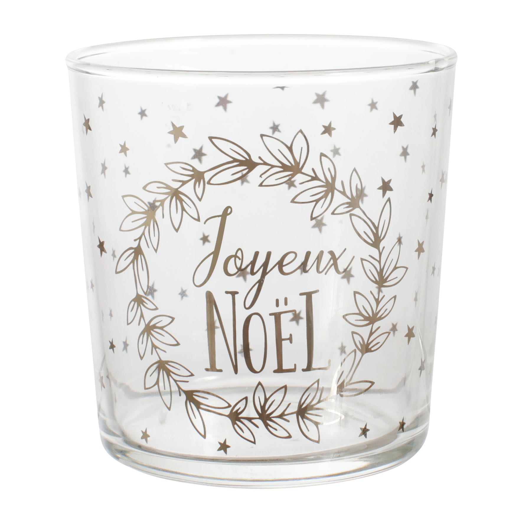 Bicchiere-Porta candela – Joyeux Noël