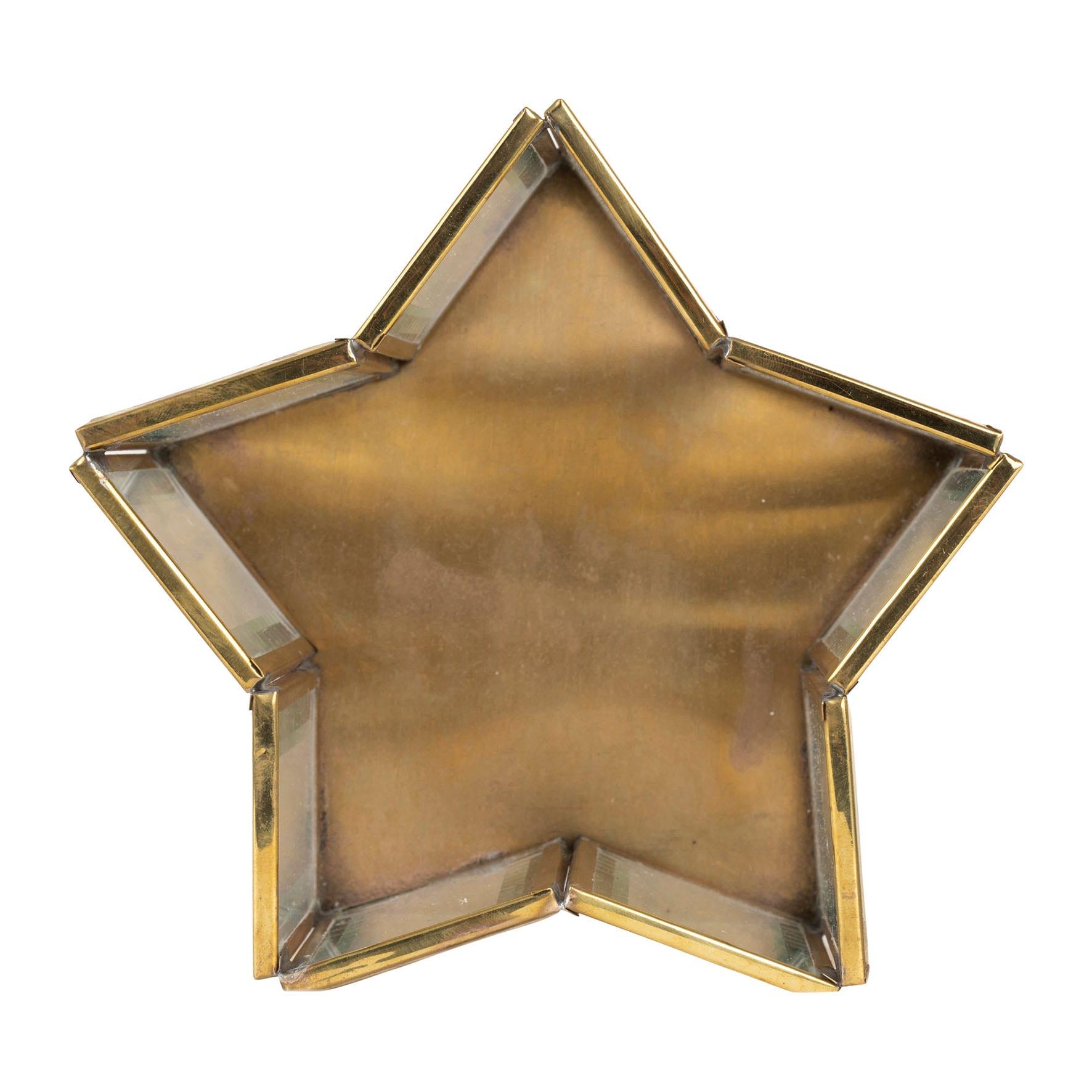 Porta candela a forma di stella – Bordo dorato