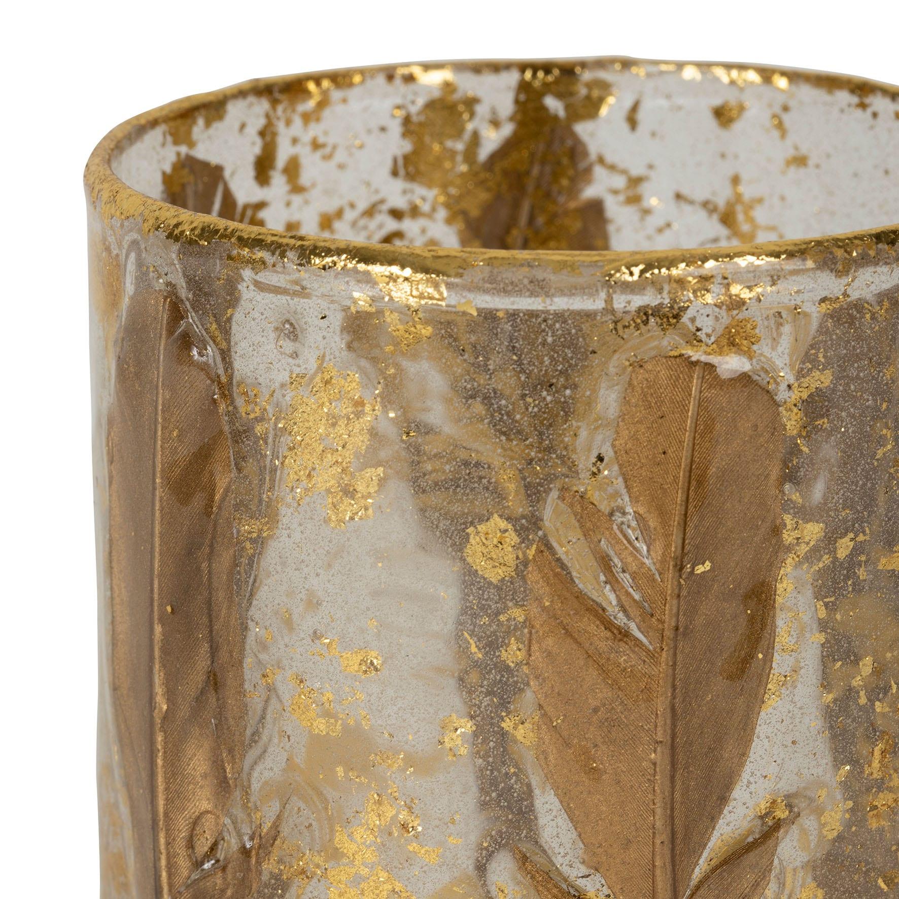 Porta candela – Piume oro
