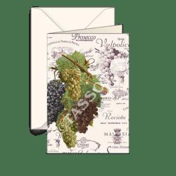 Biglietti auguri avorio – Uva