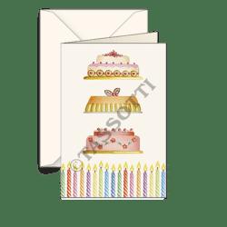 Biglietti auguri avorio – Dolci compleanno