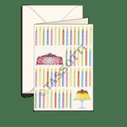 Biglietti auguri avorio – Candele compleanno