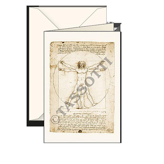 Biglietti auguri avorio – Da Vinci