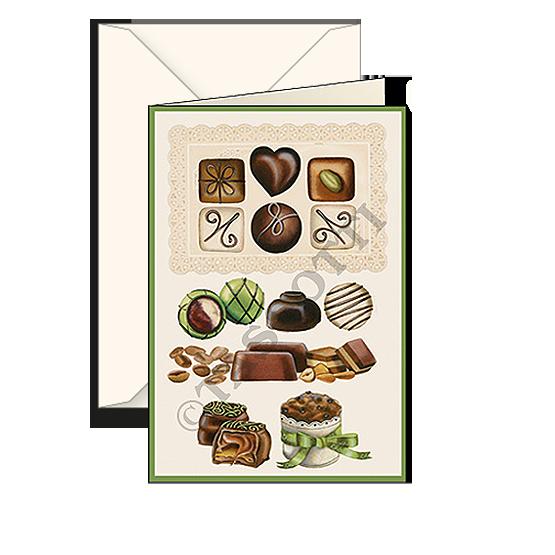 Biglietti auguri avorio – Cioccolato