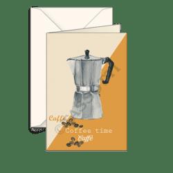 Biglietti auguri avorio – Caffettiera
