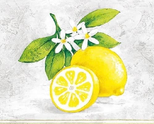 Tovaglioli piccoli di carta 3 veli – Limoni