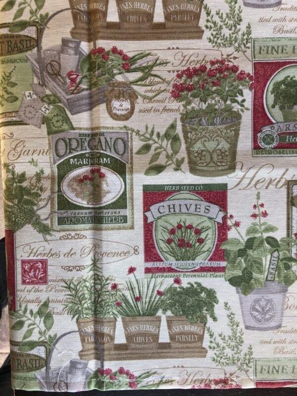 Runner cotone – Bianco con decori giardino
