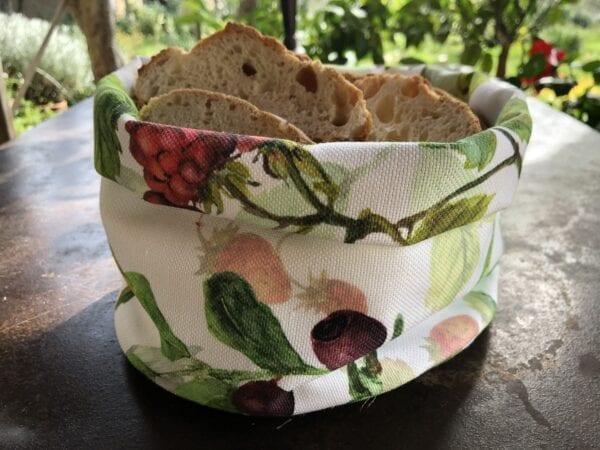 Porta pane in cotone – Frutti di Bosco