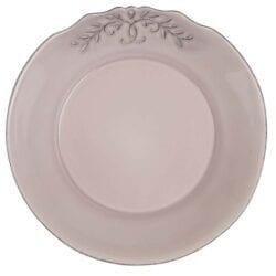 Piatto fondo in ceramica – Rosa