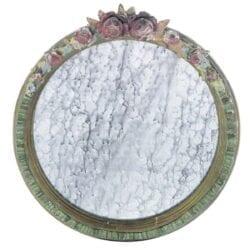 Specchio con decorazione di fiori – Piccolo