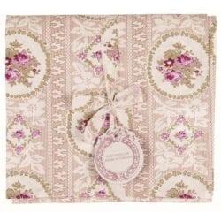 Tovaglia in cotone – Rosa con Fiori