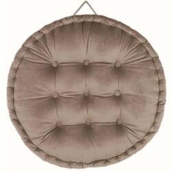 Cuscino velluto rotondo – Grigio