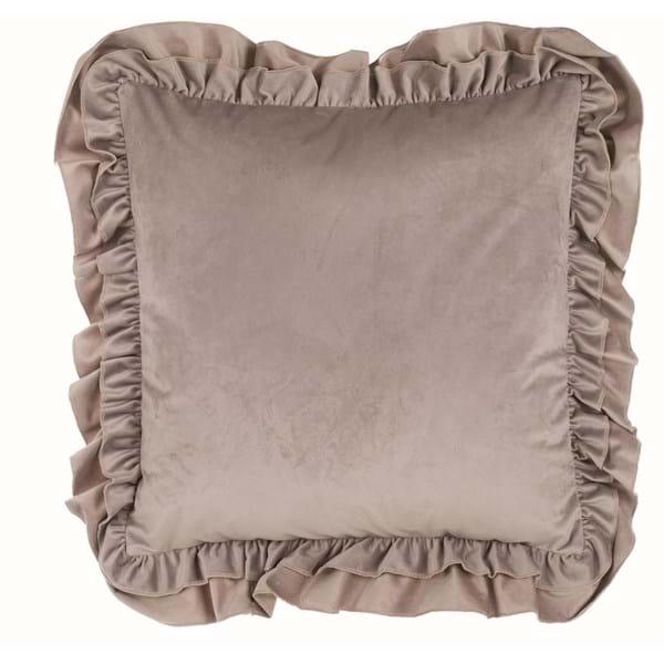 Cuscino velluto con gale