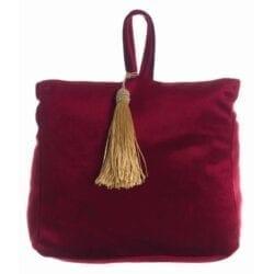 Fermaporta in velluto – Rosso