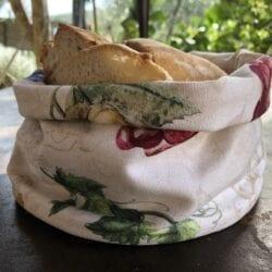 Porta pane in cotone – Uva