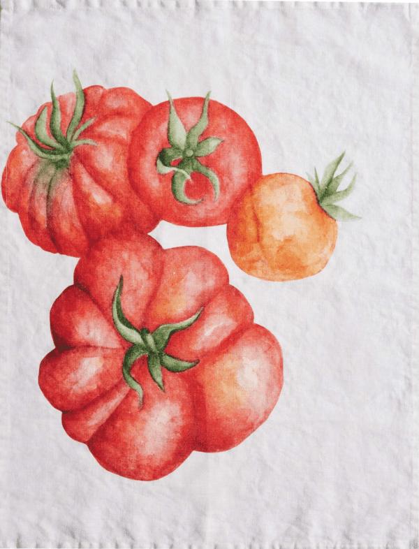 Canovaccio in lino – Pomodori