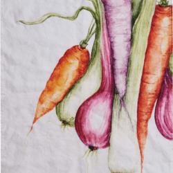 Canovaccio in lino – Verdure