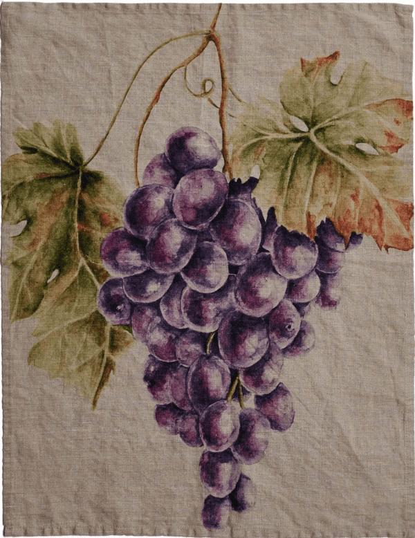 Canovaccio in lino – Foglie ed Uva