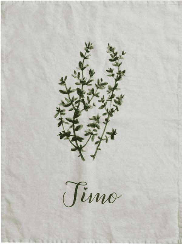 Canovaccio in lino – Timo e rametto