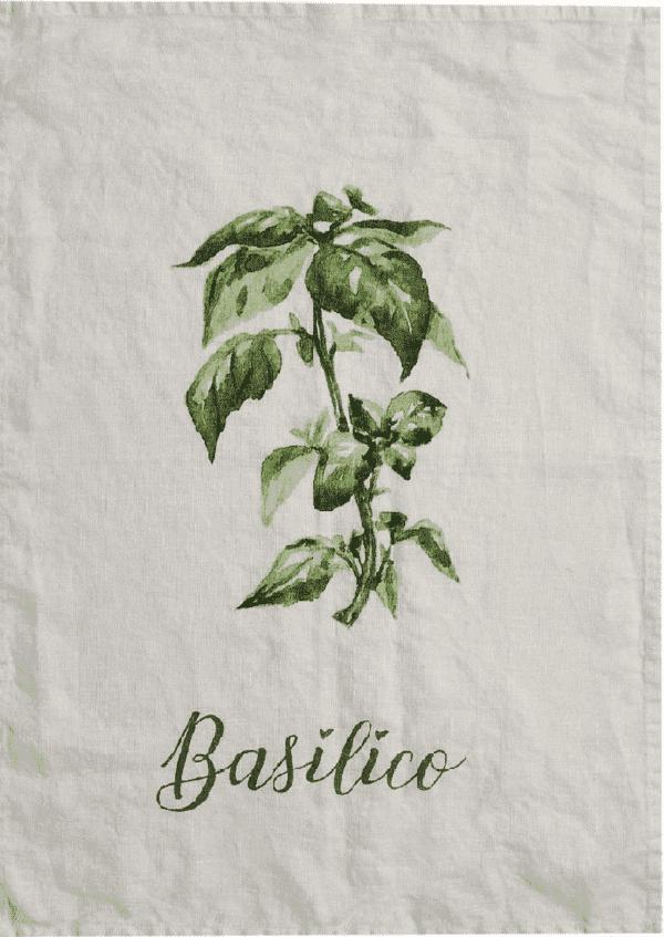 Canovaccio in lino – Basilico
