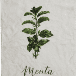 Canovaccio in lino – Menta