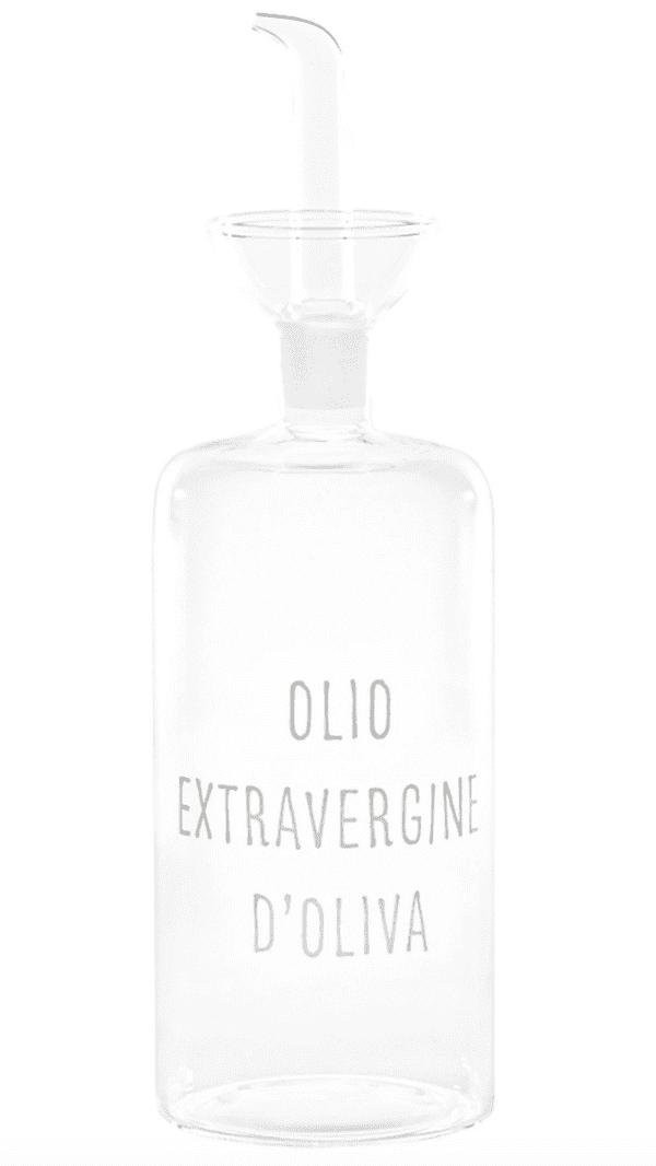 """Oliera in vetro borosilicato-""""Olio extravergine d'oliva""""- 570ml"""