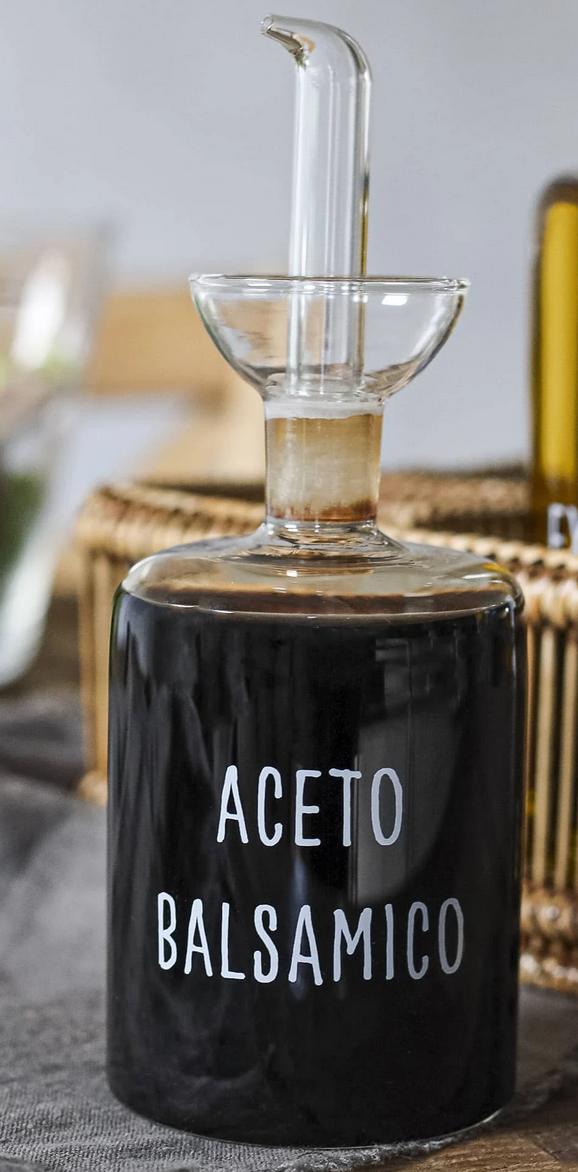 """Bottiglia """"aceto balsamico"""" in vetro borosilicato"""