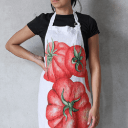 Grembiule in lino – Pomodori