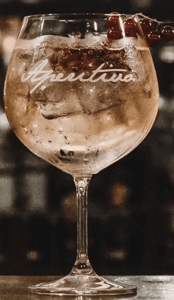 "Set di 2 Calici cocktail – Scritta ""Aperitivo"""