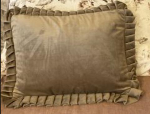 Cuscino velluto rettangolare – Tortora
