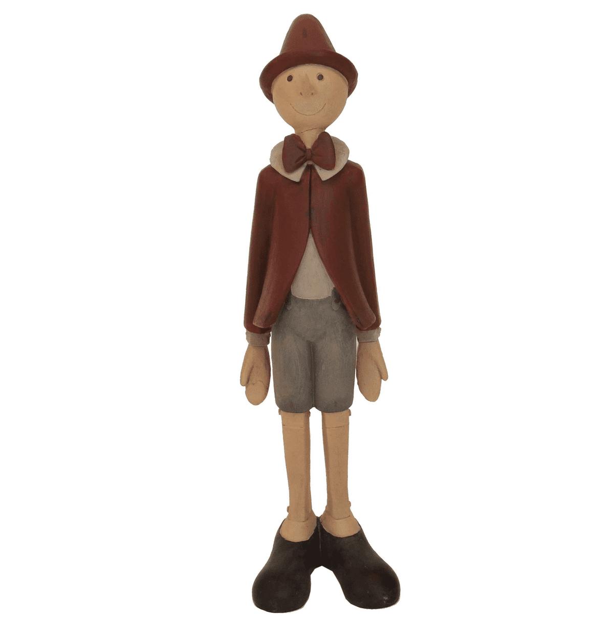 Pinocchio con giacca e cappellino rosso