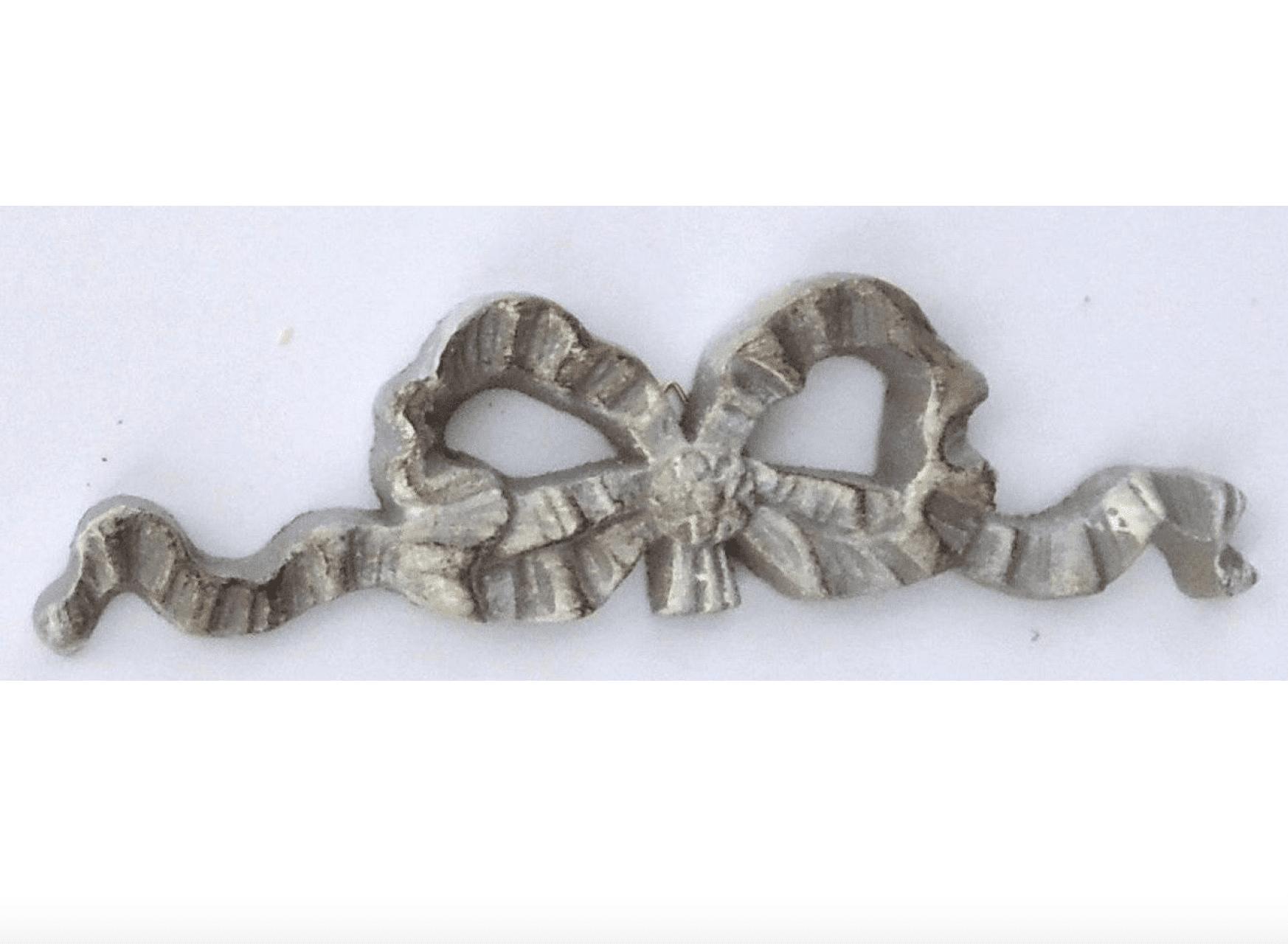 Fiocco di colore grigio – 19x6cm