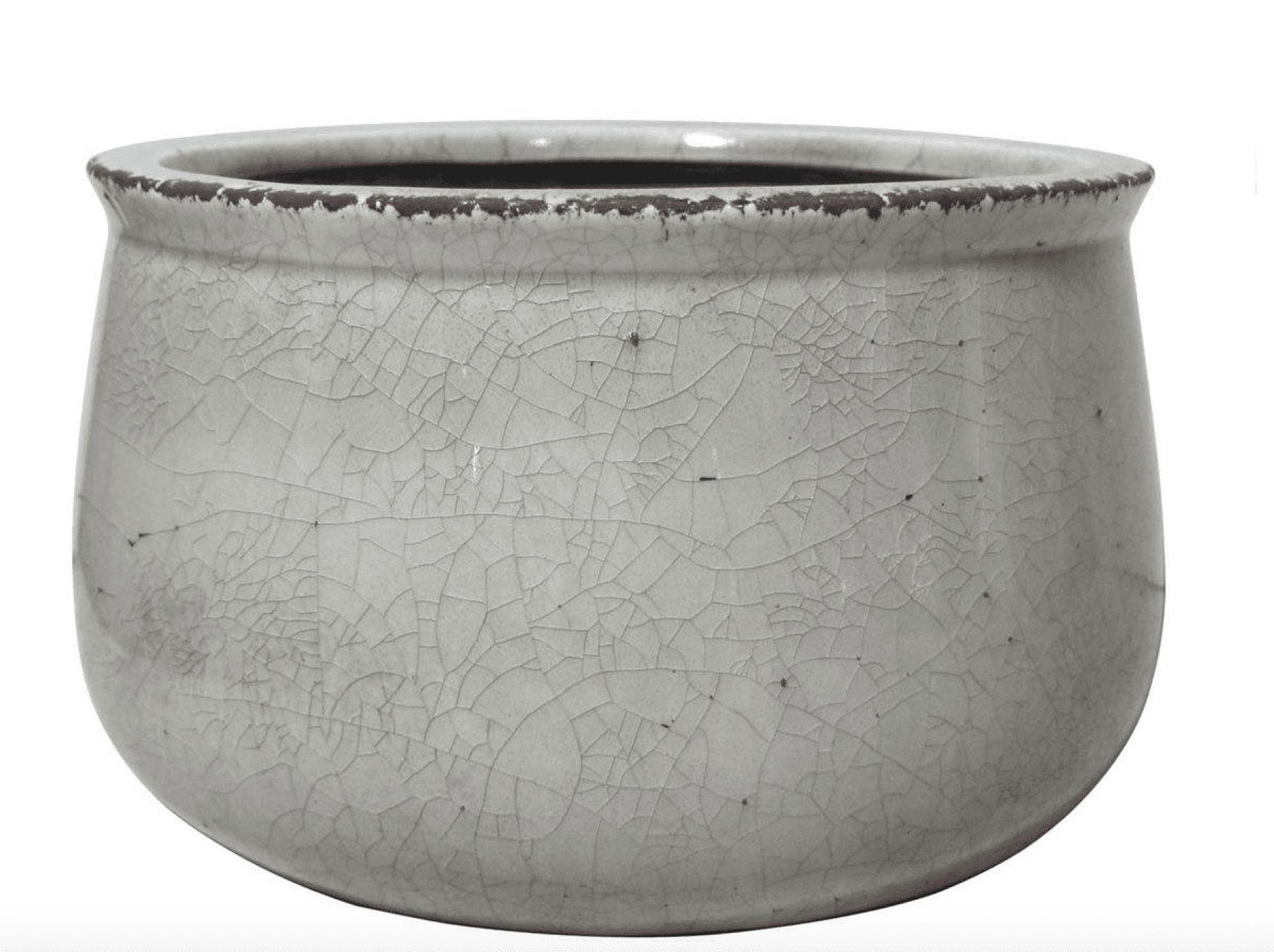 Vaso grande in ceramica craquele