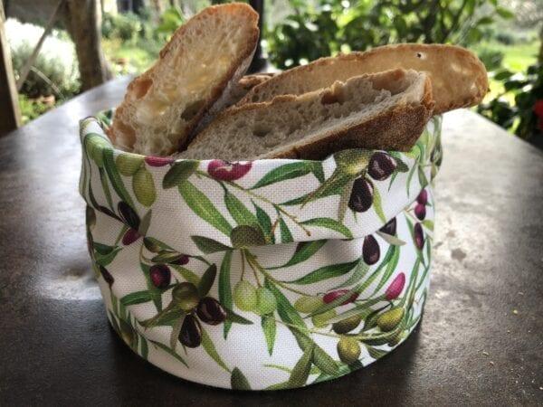 Porta pane in cotone – Oliva piccola