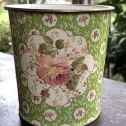Vaso primavera – Verde con una rosa grande
