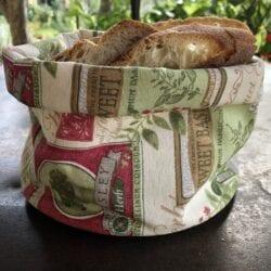 Porta pane in cotone – Giardino