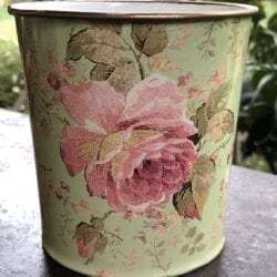 Vaso primavera – Verde chiaro con rosa