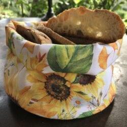 Porta pane in cotone – Girasole