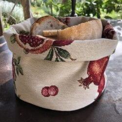 Porta pane in gobelin – Melograno
